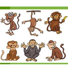monkeys cartoon set vector image