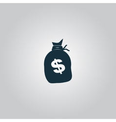 Sack of dollars vector