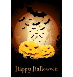 Happy halloween poster grungy vector