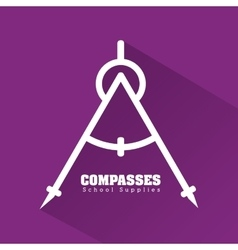Compass icon design vector