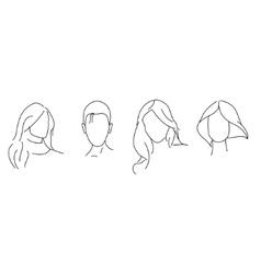 hair style vector image