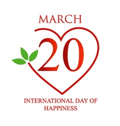 International day of happiness card vector