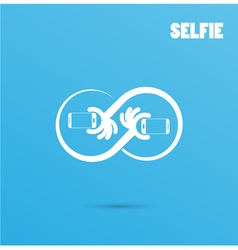 Infinite selfie logo elements design vector