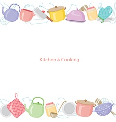 Kitchen equipment background vector