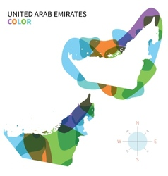 Abstract color map of united arab emirates vector