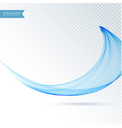 Amazing blue wave background vector