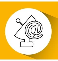 antenna icon design vector image vector image
