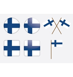badges with Finland flag vector image vector image