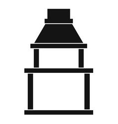 bbq grill icon simple style vector image vector image