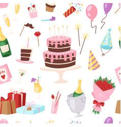 Birthday kids party cartoon childs happy vector