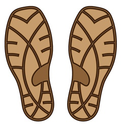Brown rubber shoe sole vector