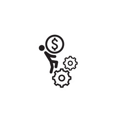 business mechanics icon flat design vector image