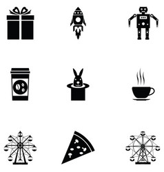 carnival icon set vector image