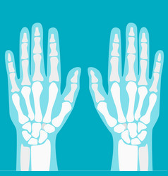 cartoon human joints hands set vector image