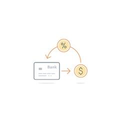 Cash back money return finance insurance and vector