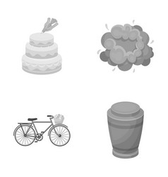 Cooking transport and other monochrome icon in vector
