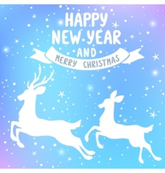 deer New Year vector image