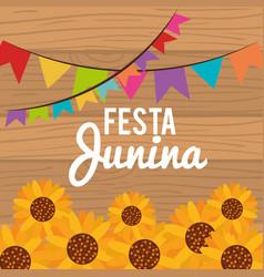 festa junina design vector image vector image