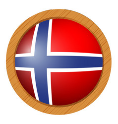 Flag of norway in round icon vector