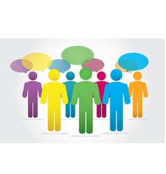 Group business people working and speech bubble vector