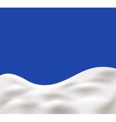 milk splash on blue background vector image vector image