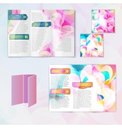 Multicolored brochure template vector image