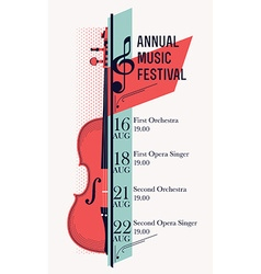 Music Festival Banner Template vector image vector image