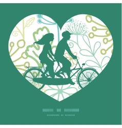 Mysterious green garden couple on tandem vector