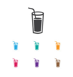 of kitchen symbol on cocktail vector image