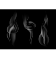 set of dark smoke vector image vector image