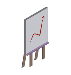 statistics growing on whiteboard vector image vector image