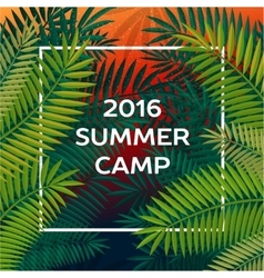 Summer themed camp and summer vacation poster vector image