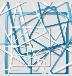 tech geometric abstract squares background vector image vector image