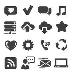 web and communication icons vector image vector image