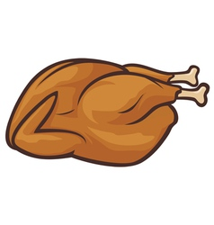 Whole roast turkey vector image