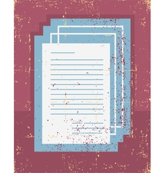 Office papers grunge vector