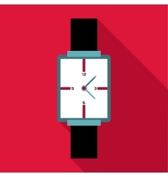 Square wristwatch icon flat style vector