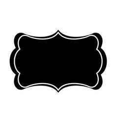 Board decoration ornament empty pictogram vector