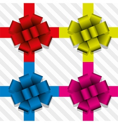 gift ribbons with bows vector image