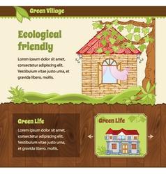 Estate web template vector image