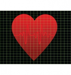 Heart beat vector