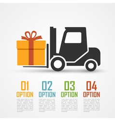 loader with gift vector image