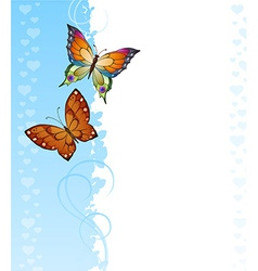 Background of colorful butterflies vector