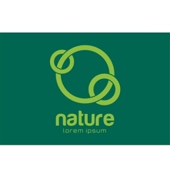 Green nature care togetherness logo vector