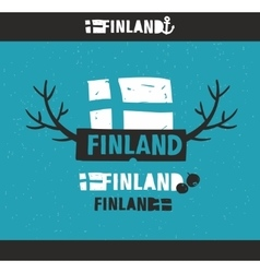 Creative emblem of finland vector