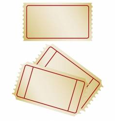 set of old paper tickets vector image