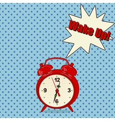 Red alarm clock vector image