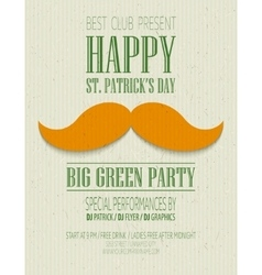 St patricks day retro poster vector