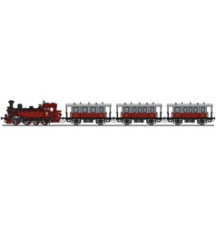 Vintage red steam train vector
