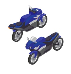 Sport bike isometric transportation modern motor vector